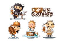 Стикеры SuperDry 2