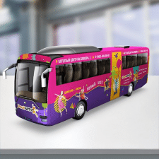 "Дизайн рекламы на автобусе ""Батутный центр"""