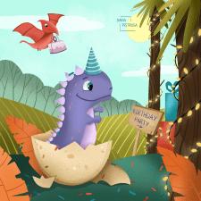 День рождения динозаврика