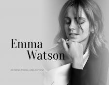 Landing page about personality | Emma Watson