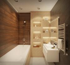 Двухкомнатная квартира 80 м2. Ванная комната