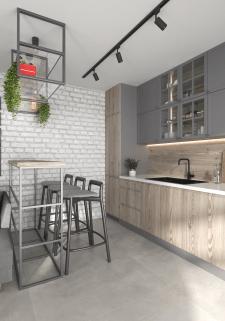Визуализация кухни из дизайн проекта