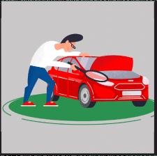 Иллюстрация для сайта авто