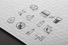 Иконки в стиле капель воды