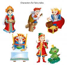 Персонажи для сказки Царевна-лягушка
