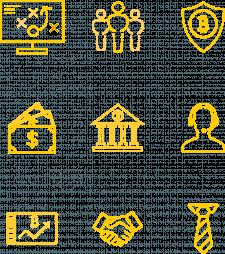 Линейные иконки для криптовалют