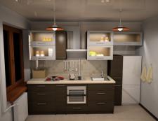 Кухня, варианты расстановки, кафель Opozcno