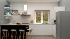 Предложение дизайна кухни с полуостровом