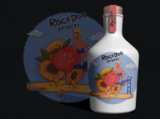 Иллюстрация для этикетки напитка