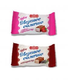 Упаковка линейки конфет суфле