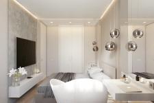 Дизайн спальни (визуализация в Corona Render).
