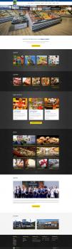 Сайт сети супермаркетов