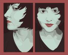 Девушка в три цвета(с фотографии)