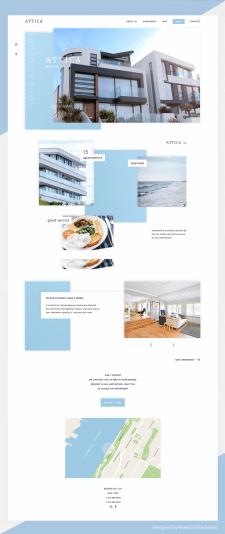 Дизайн лендинга для аренды аппартаментов