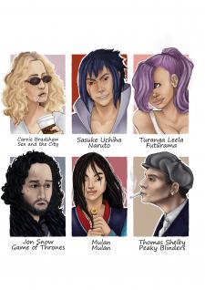 Фан-арт персонажей.