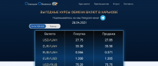 Вёрстка landing page для обменки валют