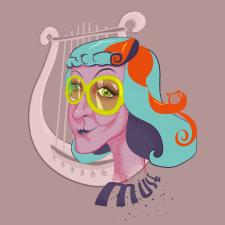 Иллюстрация (стикер) Муза