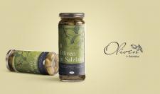 """Этикетка+лого """"Oliven in Salzlake"""""""