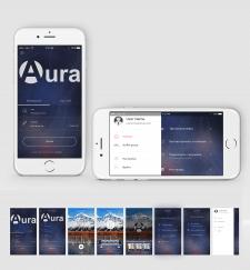 """Дизайн приложения """"Aura"""""""