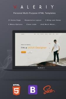 Valeriy   Personal Multi-Purpose HTML Templates