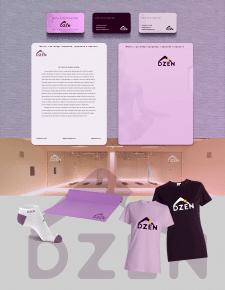Лого + нейминг + фирменный стиль для студии йоги
