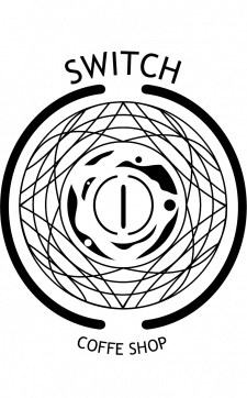 Логотип для кофейни чб вариант
