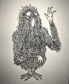 Лохматый болотный зверь