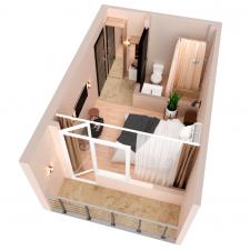 Создание 3д планировок для хостела