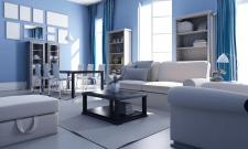 Дизайн и 3D визуализация гостиной