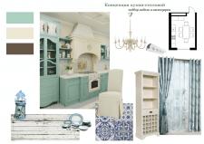 Коллаж дизайн кухни-столовой