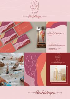 Логотип и визитки для художницы