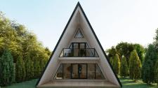 Эскизный проэкт дома шатерного типа
