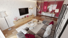Дизайн яркой гостиной