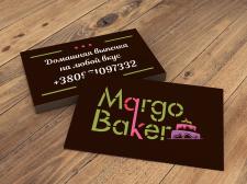 Логотип и визитка для кондитера Маргарита К.