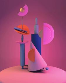 3D Модель Абстракции