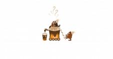 """Иллюстрация. """"Мысли о кофе""""."""