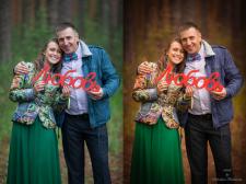 Обработка семейной фотографии