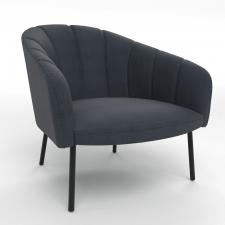 Armchair fauteuil tessin blue oil