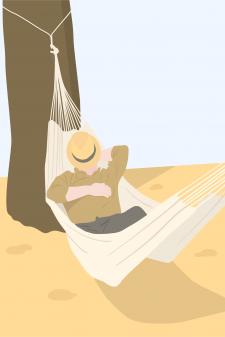 Мужчина в гамаке