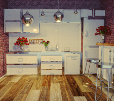 Кухня. Вечерний свет (Квартира-студия)