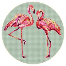 Схема для вышивки (фламинго)