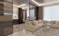 Дизайн интерьера квартиры в ЖК Малахит S 85m2
