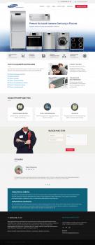 Верстка сайта СЦ по обсл. техники Samsung
