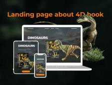 Одностраничный сайт о 4Д Книгах