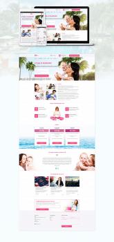 Дизайн сайта о родах в США