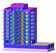 Расчет кирпичного жилого здания с автопарковкой