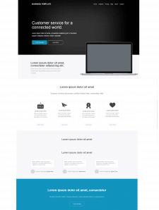 Простенький сайт на Bootstrap