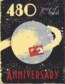 """Постер к юбилею выставки """"480 Километр"""""""