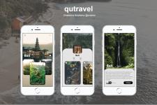 Дизайн мобильного приложения - qutravel