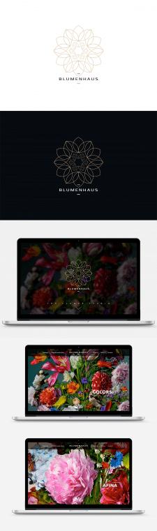 Logo and web design for flowers studio Blumenhaus